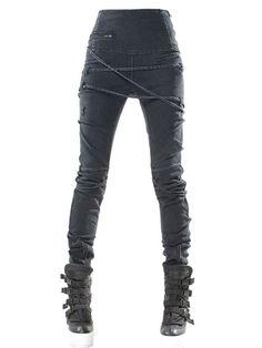 high-waisted japanese denim leggings demoboza f.w2013luisaviaroma