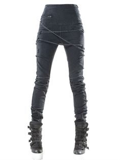 high-waisted japanese denim leggings demoboza f.w2013luisaviaroma