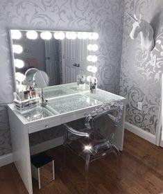 Makeup Vanity Set Bandcamp whenever Makeup Organizer Kitchen Stuff Plus. Makeup Vanity Table With Lighted Mirror Near Me Makeup Table Vanity, Vanity Room, Vanity Set, Vanity Ideas, Vanity Tables, Glass Vanity, Makeup Vanities, Teen Vanity, Vanity For Sale