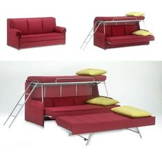 Would be awesome in the playhouse for sleepovers! folding-beds-modern-furniture-design-ideas-space-saving Fold down beds are contemporary space saving ideas for apartments and small rooms, especially teenage bedroom and guest room designs Space Saving Furniture, Home Furniture, Furniture Design, Modern Furniture, Furniture Ideas, Antique Furniture, Bedroom Furniture, Furniture Cleaner, Cheap Furniture