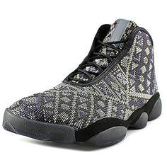 48c8cdde63c75d Nike Jordan Men s Jordan Horizon Premium Black Purple Steel Lght Chrcl  Basketball Shoe 14 Men US. Lace up closure. Woven tongue with JORDAN  jumpman flight ...