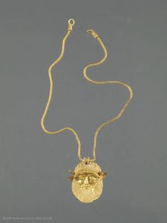 Pendant with the head of the river god Achelous. Department of Greek, Etruscan, and Roman Antiquities: Etruscan Art (9th-1st centuries BC)