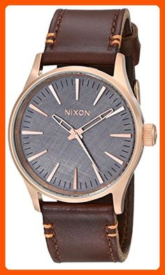 Nixon Men's A3772001 Sentry 38 Leather Watch - Mens world (*Amazon Partner-Link)