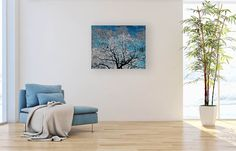 Icy blue trees, fine art photography, abstract, print, mat included, wall art, giclee print by EyePixelz on Etsy