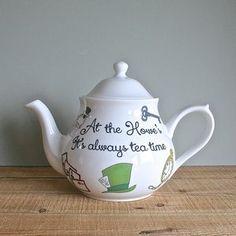 Personalised Alice In Wonderland Teapot