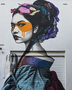 """""""Street artist @findac brings the latest art tour of his 'Hidden Beauties' series to a close with two final murals in Australia, 'Shinoya' in Melbourne and…"""""""