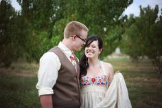 Care to share a few vendor/shopping links? Photography: Danielle Byrd Dress: Aida Coronado Venue: Branstrator Farm Enough talk — show me the wedding porn! Farm Wedding, Wedding Day, Printed Gowns, Rainbow Wedding, Offbeat Bride, Mexican Dresses, Love And Marriage, Beautiful Bride, Wedding Colors