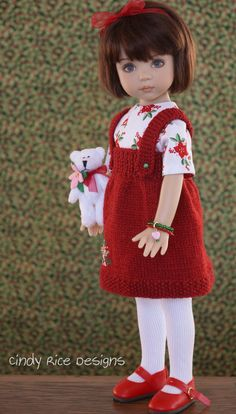 """Classic and Cozy"", a handmade and OOAK ensemble for Dianna Effner's Little Darlings, cindyricedesigns.com"