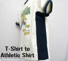 Sew Can Do: Basic T-Shirt to Athletic Shirt in 5 Minutes! Perfect for making a fav T a little bigger for longer wear.