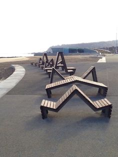 Goose Foot Street Furniture: Bespoke seating for Colwyn Bay promenade 2 of 3  https://www.djpeter.co.za