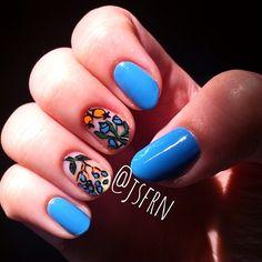 Jane Safarian nail art (@jsfrn_nailart) • negative space fruity floral nails