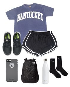 """Basketball tonight"" by lydia-hh ❤ liked on Polyvore featuring NIKE, OtterBox, The North Face, S'well, women's clothing, women, female, woman, misses and juniors"
