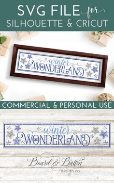A unique way to decorate, this Winter Wonderland SVG File for Cricut/Silhouette is perfectly sized for the 6x24 wood tiles sold at home improvement stores. I love decorating with wood tiles - they are cheaper AND less work than staining, santing, and sealing actual wood. But best of all - they look AMAZING.