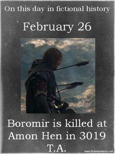 Moment of silence for Boromir.