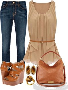 """""""party time!"""" by hulahipshaker on Polyvore  Brown & tan"""