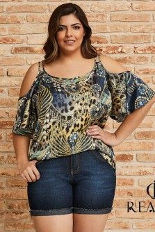 Blusa Plus Size Estela Maria