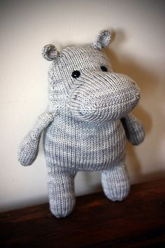 This Harriet is for my friend Jeff who has the biggest (and only) hippo collection I've ever seen. Very fun and friendly to make just like all DangerCrafts patterns :) I used Kitchener stitc...