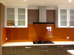 """A stunning colour on glass - """"Oranges"""" by Ultimate Glass Splashbacks"""