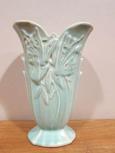 "Nelson McCoy Butterfly vase 9""/ ebay"