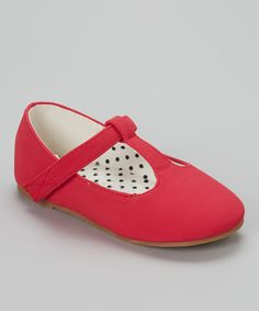 QQ Girl Red Lovely T-Strap Shoe by QQ Girl #zulily #zulilyfinds