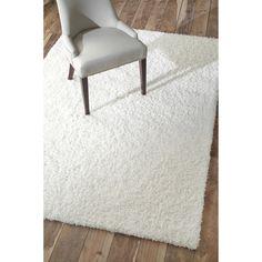 white shag rug. Soft And Plush White Shag Rug - 5\u00273 X 8\u0027