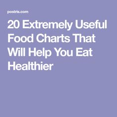 20 Extremely Useful Food Charts That Will Help You Eat Healthier