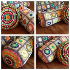 stunning granny bolster pillows