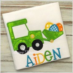 Tractor with Easter Eggs Shirt for Boys or Girls - Personalization Available