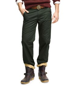 Can never own too many for the walks to work. Flannel-Lined Utility Chino: PANTS and SHORTS | Free Shipping at L.L.Bean