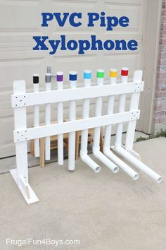 to Make a PVC Pipe Xylophone Instrument How to Make a PVC Pipe Xylophone Instrument - Play real songs on this, and the sound is really neat.How to Make a PVC Pipe Xylophone Instrument - Play real songs on this, and the sound is really neat. Summer Activities For Kids, Diy For Kids, Preschool Music Activities, Pvc Pipe Projects, Diy Projects, Homemade Musical Instruments, Diy Instrument, Music Instruments, Outdoor Playground