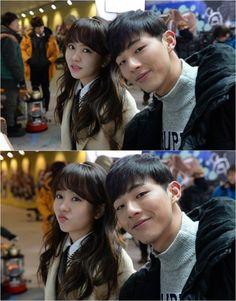 """Drama Special - Page Turner"" Kim So-hyeon-I and Ji Soo's selfie @ HanCinema :: The Korean Movie and Drama Database"