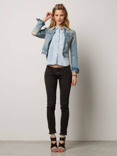 Etoile denim jacket - Faded youth destructed - denim blue - P
