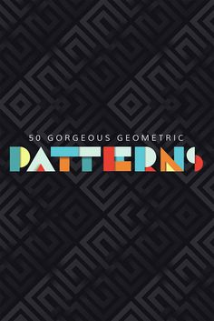 50 Stunningly Beautiful Geometric Patterns In Graphic Design