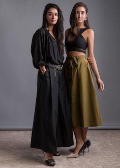 Gina (left) wearing Bodice and Tehzeeb (right) wearing Shift, shot by Porus Vimadalal and styled by Prayag Menon. #NewIndianVoice