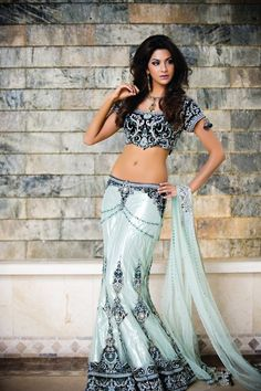 Bollywood-Style Lengha and Choli [Blouse]