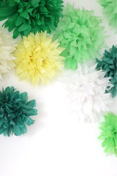 wedding ideas party i these poofs so easy to make and they add so much 27739