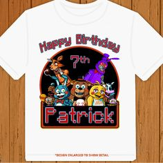 Five Nights at Freddy's - Personalized Pick Name- Age & Size Birthday T-Shirt  #Gildan #Everyday