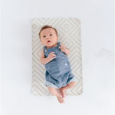 Hype over STRIPE : Charcoal lined bands of timelessness on a bed of pearl white. A little luxury diaper changing mat for the precious babies whose bottoms will Baby Changing Mat, Diaper Changing Pad, Be My Baby, Baby Time, First Baby, Pearl White, Geo, Charcoal, Nursery