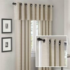 Madison Park Anderson Silk Texture Grommet Panel and Valance Set in Cream - Anderson Silk Texture Grommet Panel and Valance Se Cream Curtains, Grommet Curtains, Valances, Kitchen Window Treatments, Drapery Rods, Curtains For Sale, Blinds For Windows, Window Coverings, Bed Design