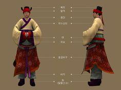 Goryeo Dynasty(AD918-1392) Korean traditional clothes #hanbok 일본 대은사 소장, 관경변상도 근거, 의위 복식 무사 - 문화콘텐츠닷컴