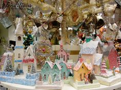 Close up of Cody Foster's Christmas village houses!
