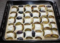 Slivkový koláč s tvarohom - recept postup 5 Nutella, Pie, Desserts, Food, Torte, Tailgate Desserts, Cake, Deserts, Fruit Pie