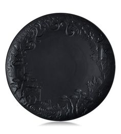 Jean Boggio for Franz - China Impressions Black Dinner Plate