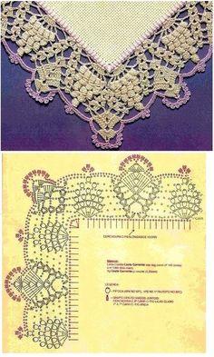❤ ✿ Mi rincón de la tela ✿ ❤: Colección de encaje o encaje de ganchillo . Crochet Border Patterns, Crochet Mandala Pattern, Crochet Lace Edging, Crochet Round, Thread Crochet, Crochet Trim, Irish Crochet, Crochet Flowers, Crochet Collar