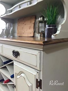 Restyled French Hutch by ReRoost on Etsy