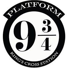 Harry Potter plateforme 9 3/4 Kings Cross cut Vinyle Mur Art Sticker / Autocollant