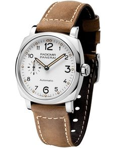 @paneraiofficial will launch, at the SIHH 2016 watch salon, the new @paneraiofficial Radiomir 1940 3 Days Automatic Acciaio (Ref. PAM00655), the first in that collection to feature a white dial — a rarity in the Panerai portfolio overall.  More @ http://www.watchtime.com/wristwatch-industry-news/watches/sihh-2016-panerai-radiomir-1940-3-days-automatic-acciaio-42mm/ #panerai #watchtime #menswatches #watchnerd #SIHH2016