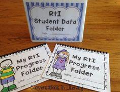 Kindergarten Teacher & Student Data Graph Binders- Managing RTI Data Graphs