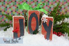 Joy Wooden Gift Blocks - Happy Card Factory