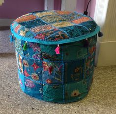 Bohemian style ottoman available at Charmed in Lynchburg, VA (434) 610-9124